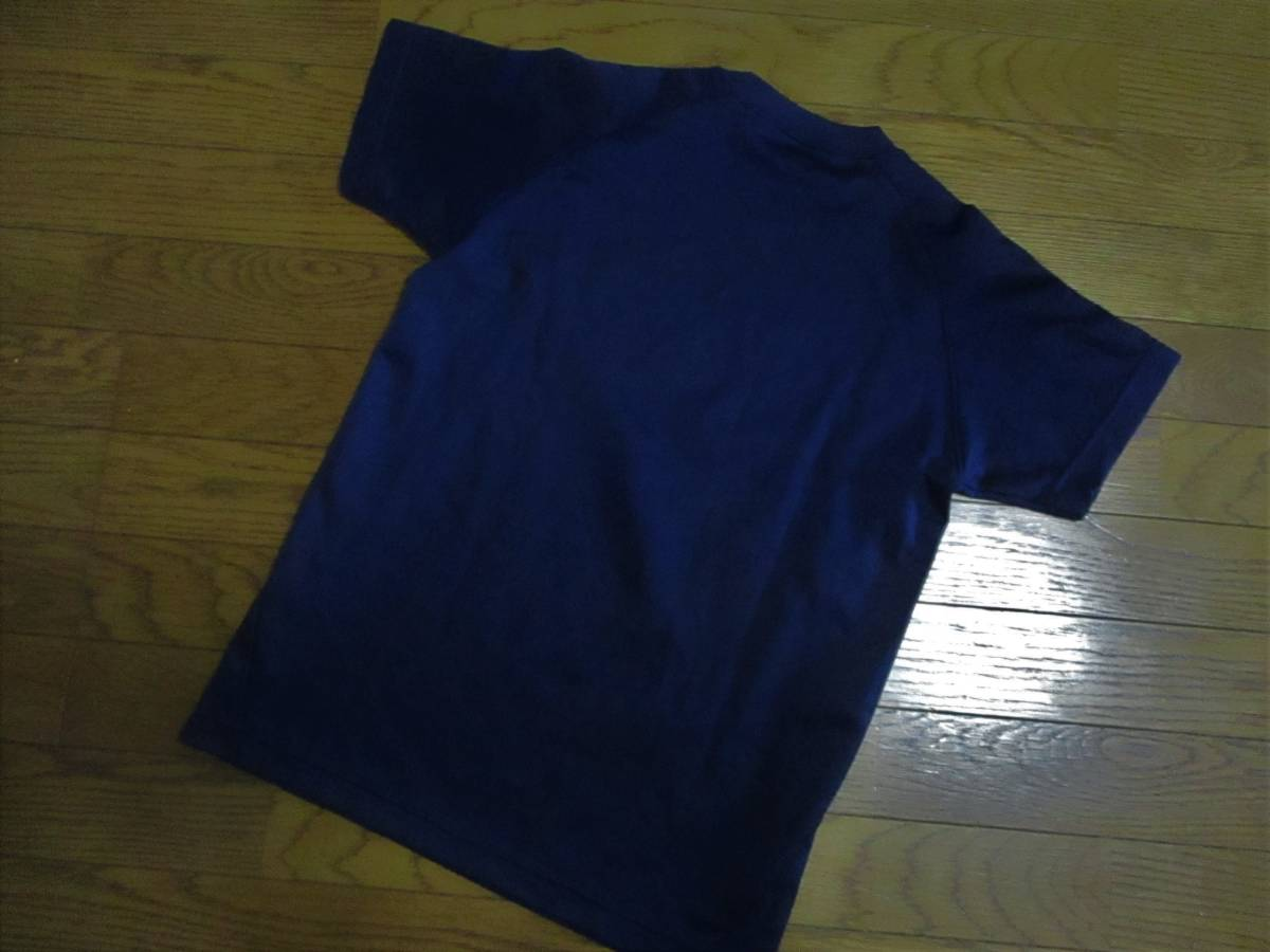 アシックス・ドライ半袖Tシャツ・紺×赤色・サイズ150㎝_画像3