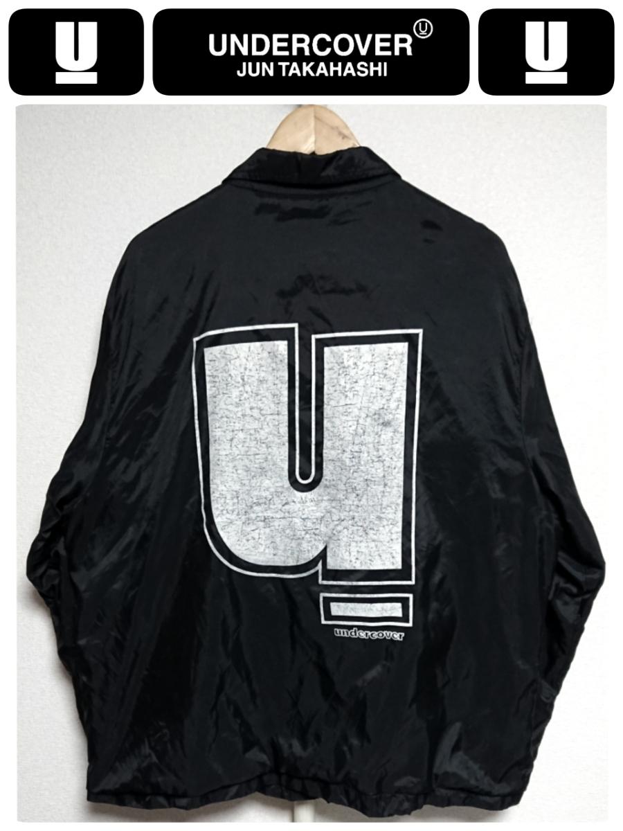 超稀少 90S UNDER COVER アンダーカバー 最初期 United Sports社USA製ボディ ヴィンテージ uロゴプリントナイロンコーチジャケット L 良品_画像1