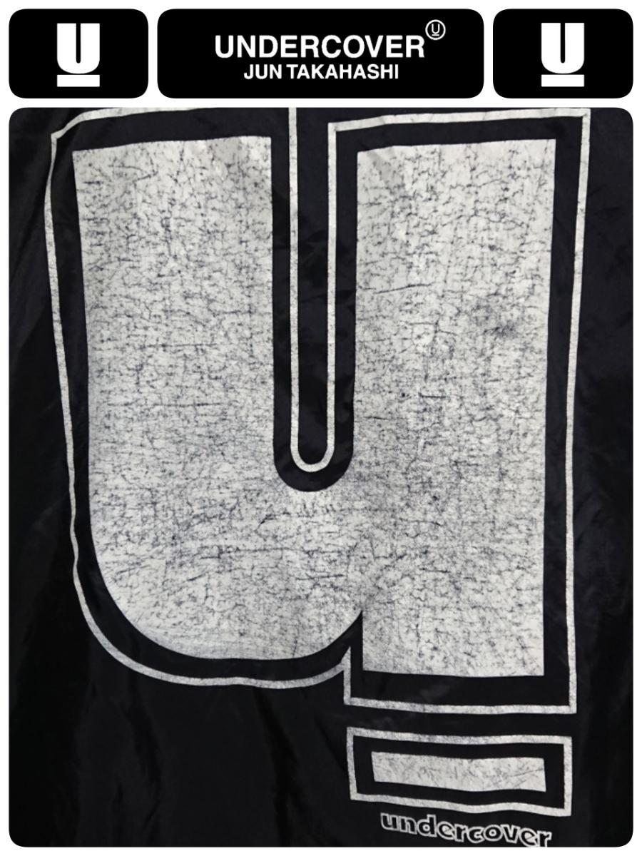 超稀少 90S UNDER COVER アンダーカバー 最初期 United Sports社USA製ボディ ヴィンテージ uロゴプリントナイロンコーチジャケット L 良品_画像5