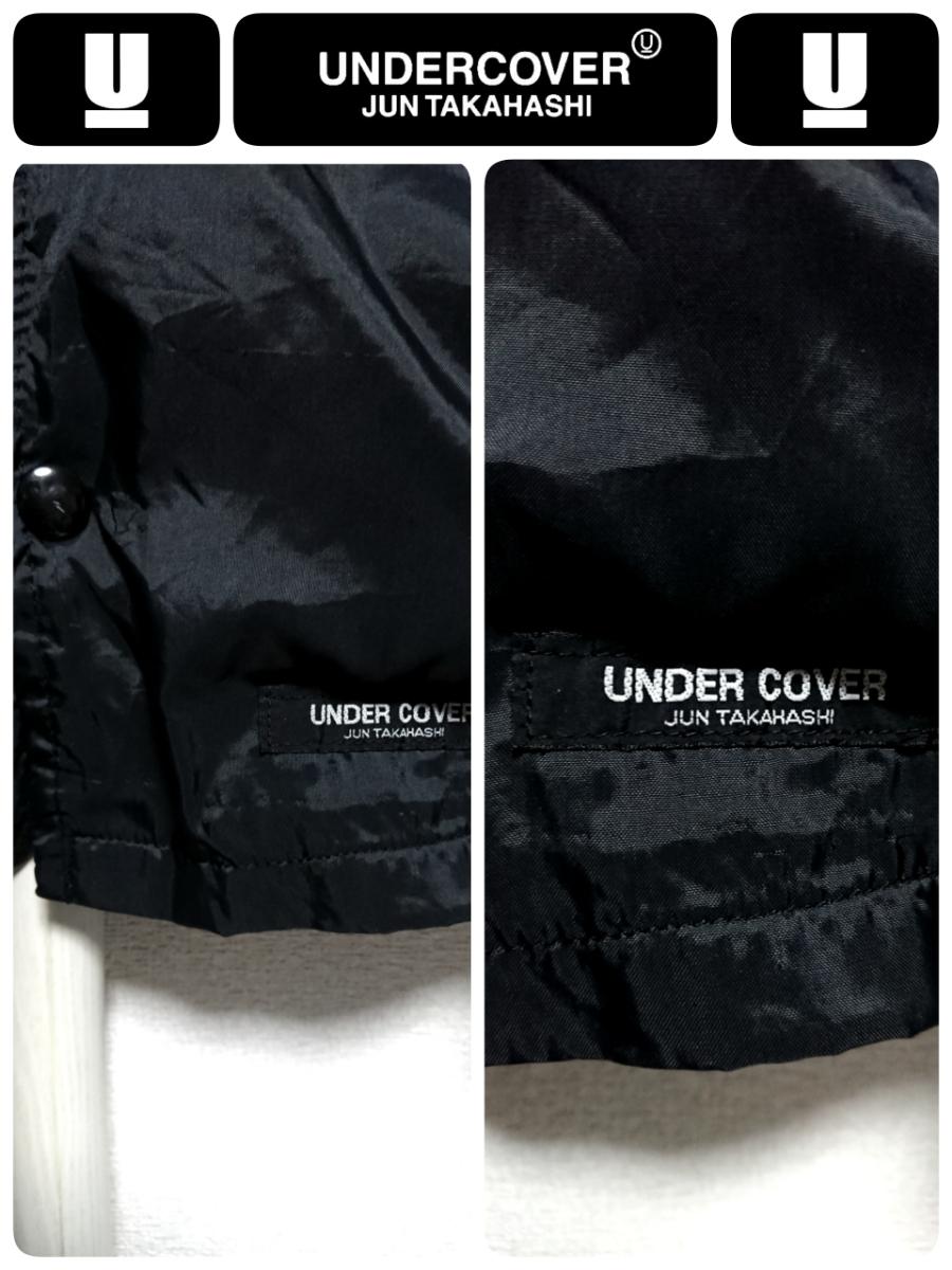 超稀少 90S UNDER COVER アンダーカバー 最初期 United Sports社USA製ボディ ヴィンテージ uロゴプリントナイロンコーチジャケット L 良品_画像7