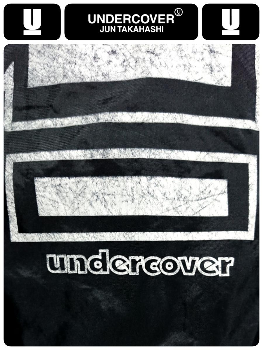 超稀少 90S UNDER COVER アンダーカバー 最初期 United Sports社USA製ボディ ヴィンテージ uロゴプリントナイロンコーチジャケット L 良品_画像6