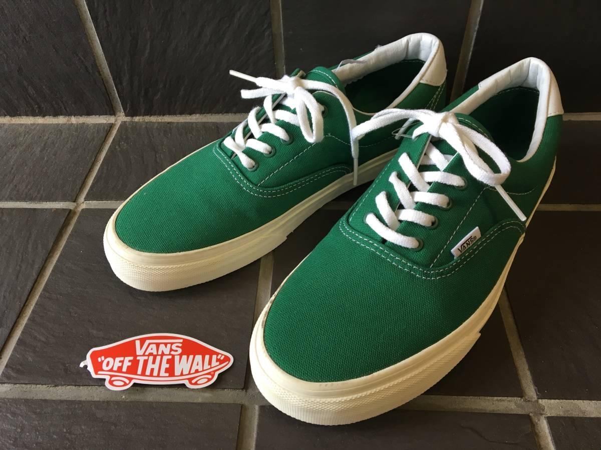 新品未着用【VANS/バンズ】ERA エラ 27.5cm GREEN メンズスニーカー シューズ 靴 AUTHENTIC オーセンティック