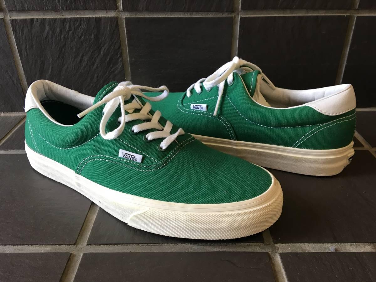 新品未着用【VANS/バンズ】ERA エラ 27.5cm GREEN メンズスニーカー シューズ 靴 AUTHENTIC オーセンティック_画像2