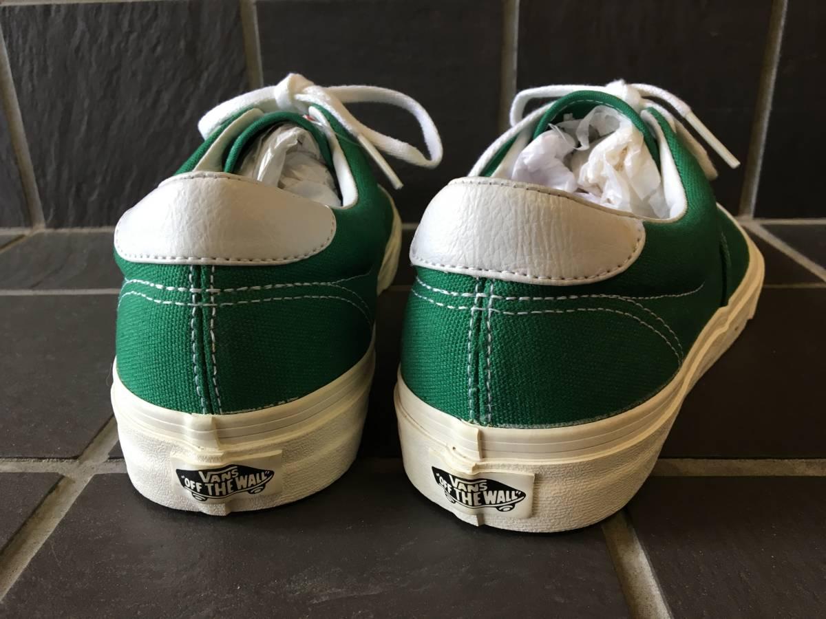 新品未着用【VANS/バンズ】ERA エラ 27.5cm GREEN メンズスニーカー シューズ 靴 AUTHENTIC オーセンティック_画像4