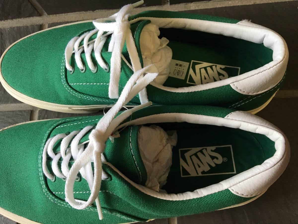 新品未着用【VANS/バンズ】ERA エラ 27.5cm GREEN メンズスニーカー シューズ 靴 AUTHENTIC オーセンティック_画像3