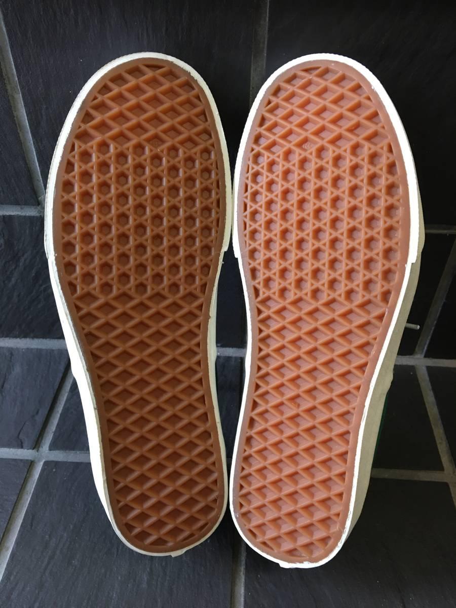 新品未着用【VANS/バンズ】ERA エラ 27.5cm GREEN メンズスニーカー シューズ 靴 AUTHENTIC オーセンティック_画像5