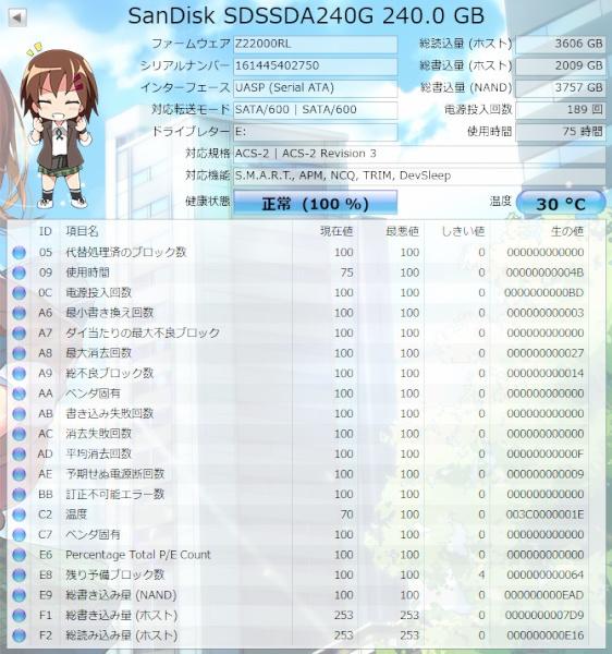 SANDISK SSDプラス SDSSDA-240G-J25 240GB MLC サンディスク_画像5