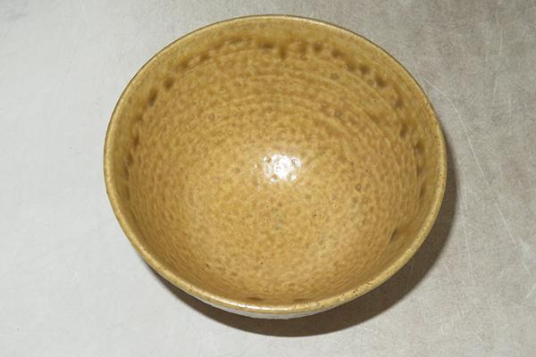 ◆ 茶道具 茶碗 【 銘'一休寺' 黄伊羅保釉 茶碗 】 紙箱... ★消費税は掛かりません_画像7