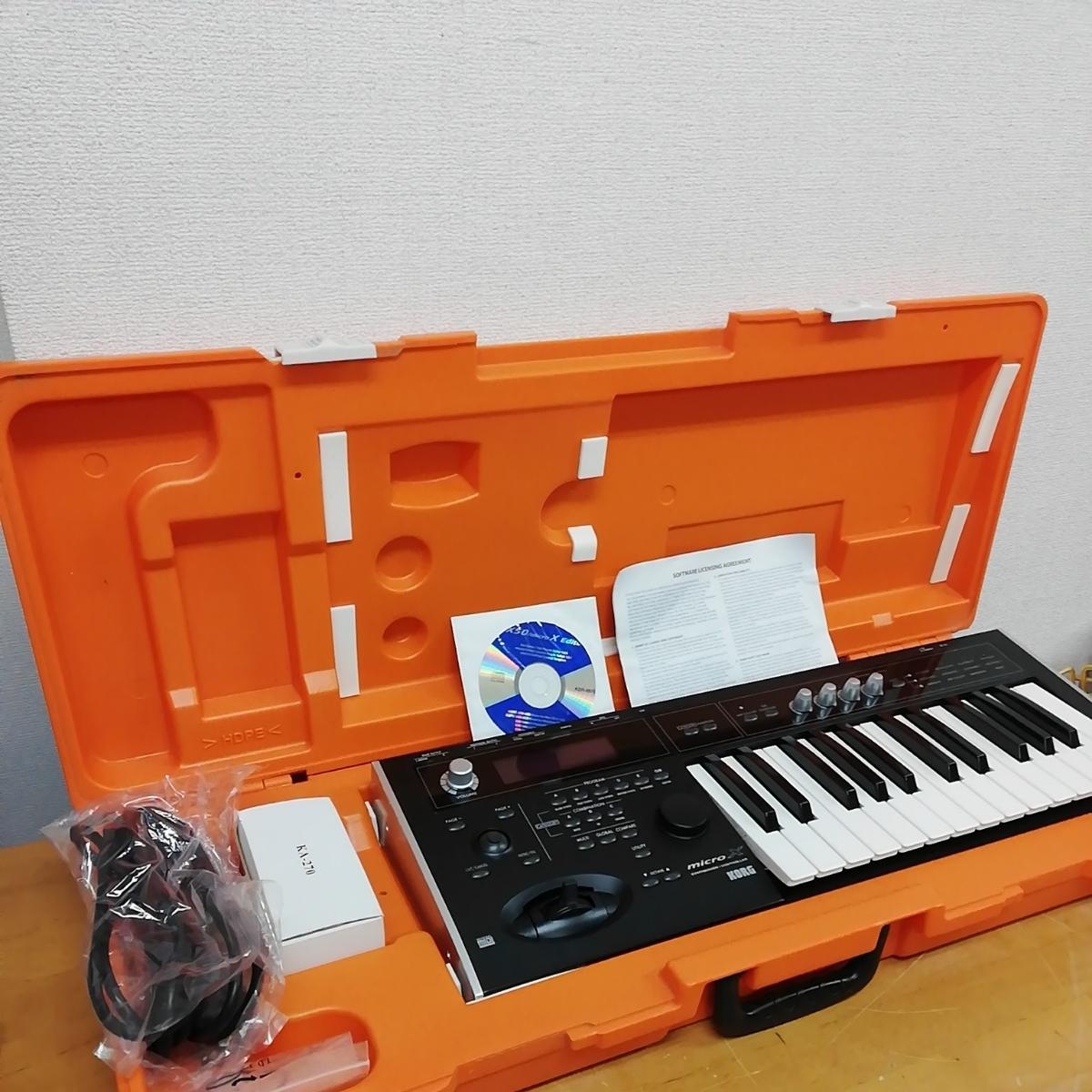 【使用期間少】KORGコルグ シンセサイザー/コントローラー microX ホワイト 完品