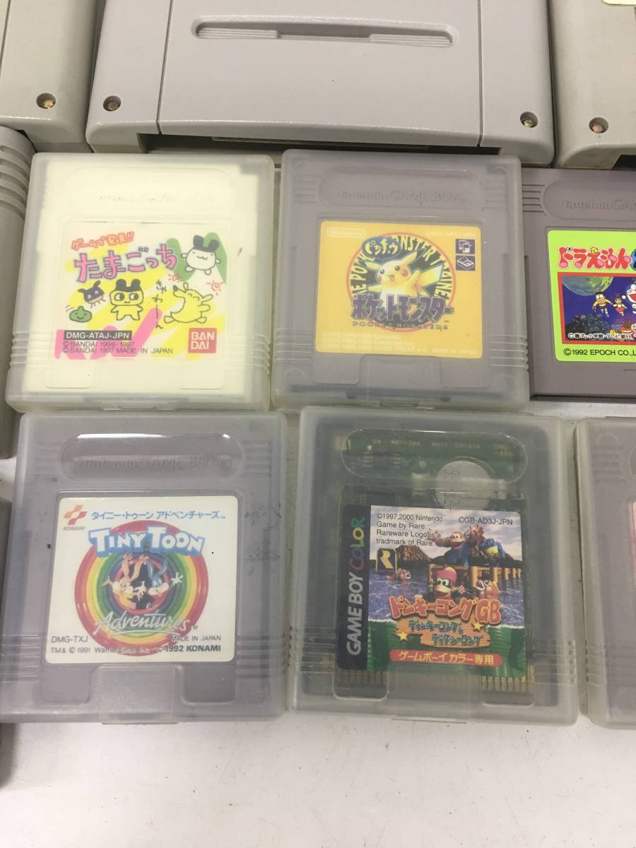 【ジャンク】ゲームソフトまとめて/スーパーファミコン・ゲームボーイ・Nintendo64・ゲームキューブ・PS・PS2/動作未確認/ゲーム大量