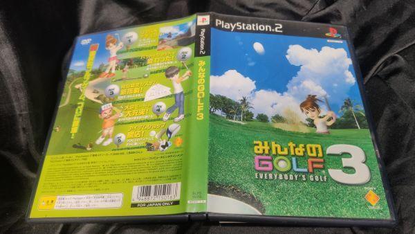 PS2 みんなのGOLF3 クリックポストで4本まで同梱可 PS2Y_画像1