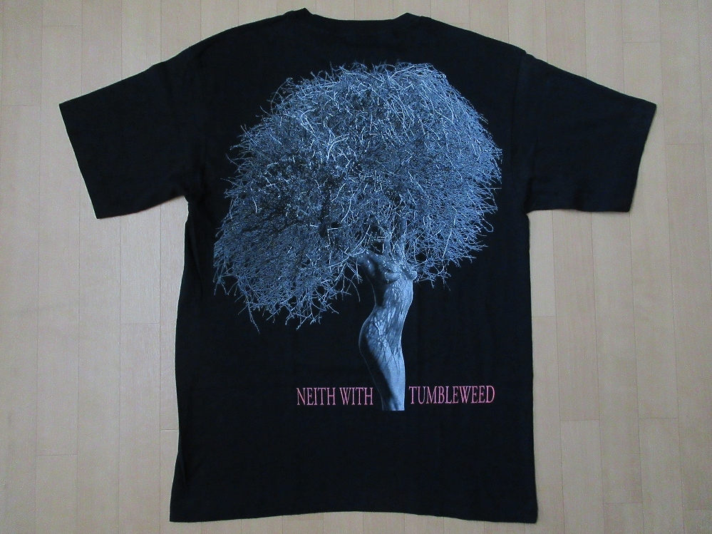 80's 90's USA製 ハーブ リッツ Neith With Tumbleweed Paradise Cove フォト Tシャツ XL Herb Ritts 写真家 エロ 芸術 ART現代美術 美術館_Herb Ritts フォト・Tシャツ裏面