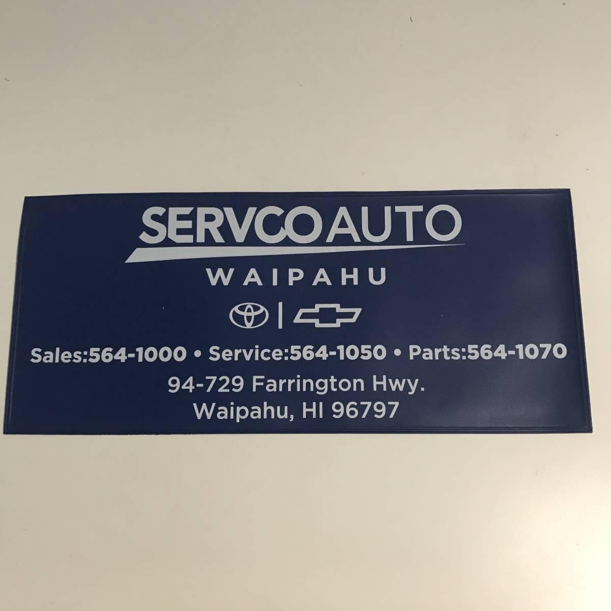 HAWAII SERVCO TOYOTA WAIPAHU REGISTRATION DOCUMENT BAG ハワイ サーフコ トヨタ ワイパフ レジストレーション 車検証 書類入れ USDM HDM