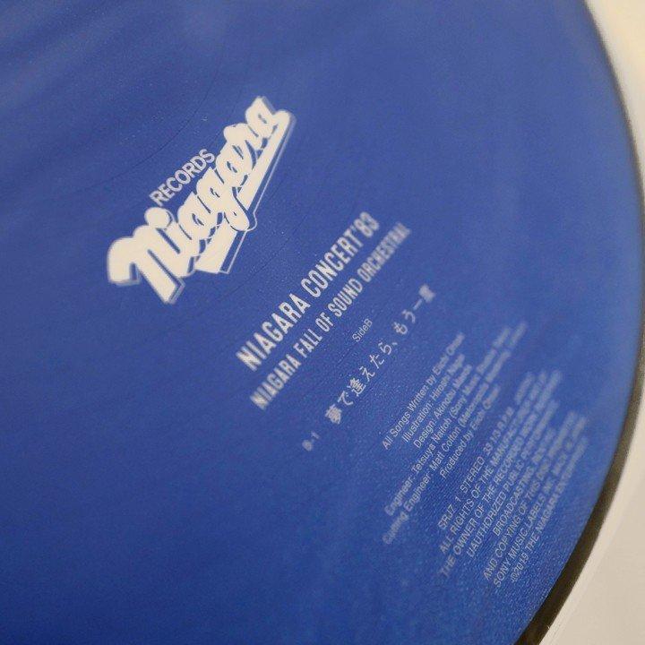 即決 未開封品 大滝詠一 NIAGARA CONCERT '83 Complete Set CD&DVD(初版)+完全生産限定版LP2種(ポストカード 付)(ピクチャーLP)_ピクチャーLPのB面の曲目です
