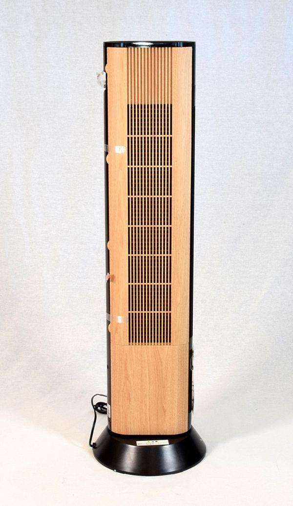 ドウシシャ 扇風機 スリムタワーファン 首振り リモコン付き ピエリア ナチュラルウッド FTT-902 NWD_画像3