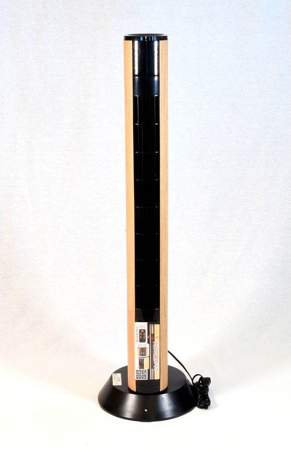 ドウシシャ 扇風機 スリムタワーファン 首振り リモコン付き ピエリア ナチュラルウッド FTT-902 NWD_画像2