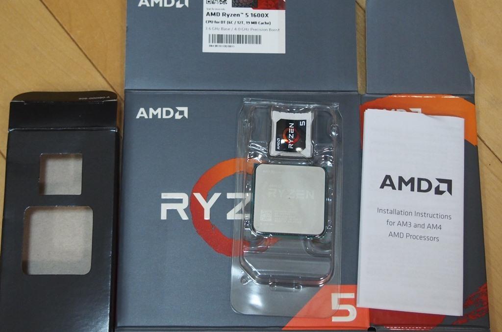 AMD Ryzen5 1600X 中古動作確認済み おまけ付:CPUクーラー虎徹MarkⅡ,クマグリス