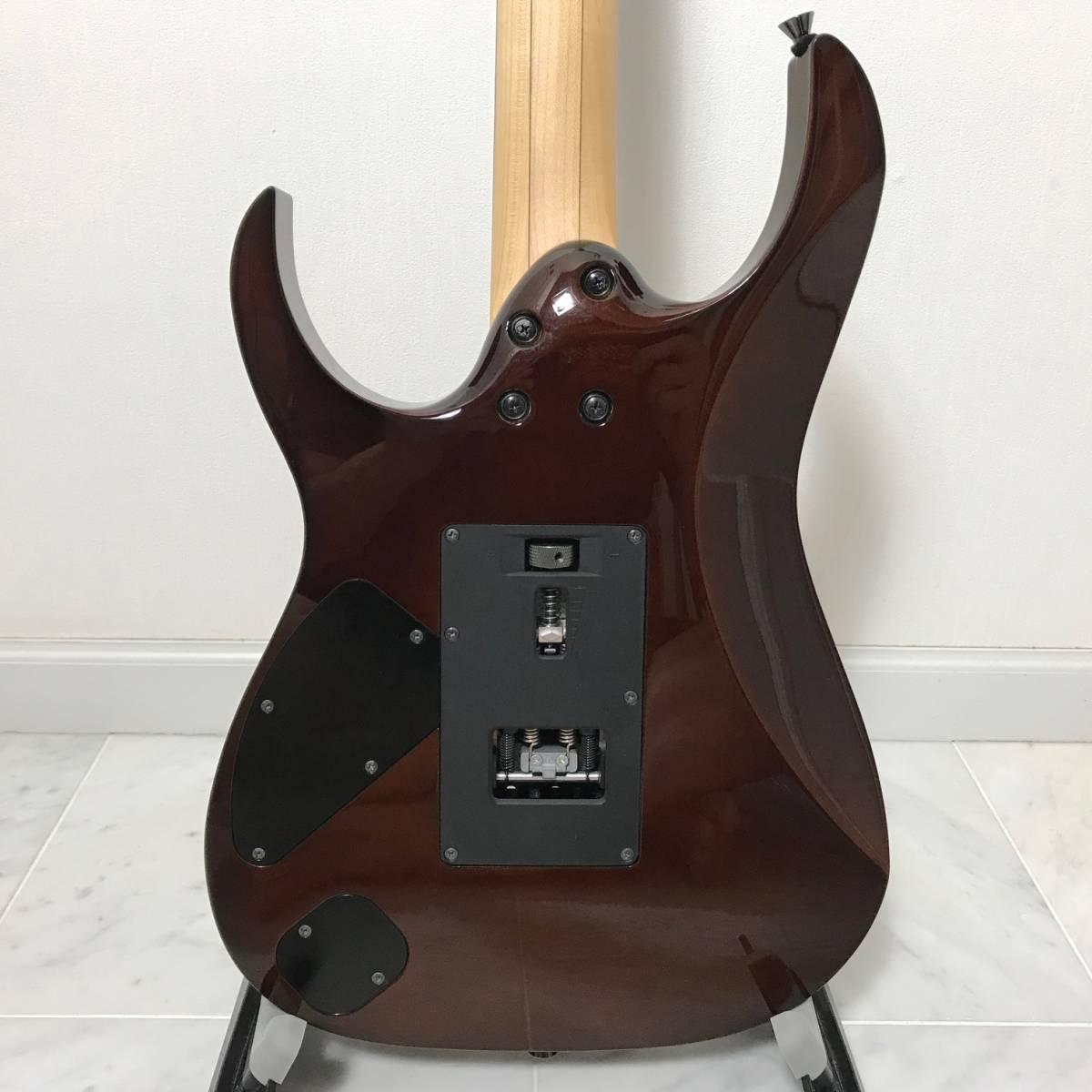 希少 美品 Ibanez J.custom RG7570Z Bright Brown Rutile 付属品 専用ハードケース付 日本製 アイバニーズ エレキギター GOTOHペグ 最高峰_画像9