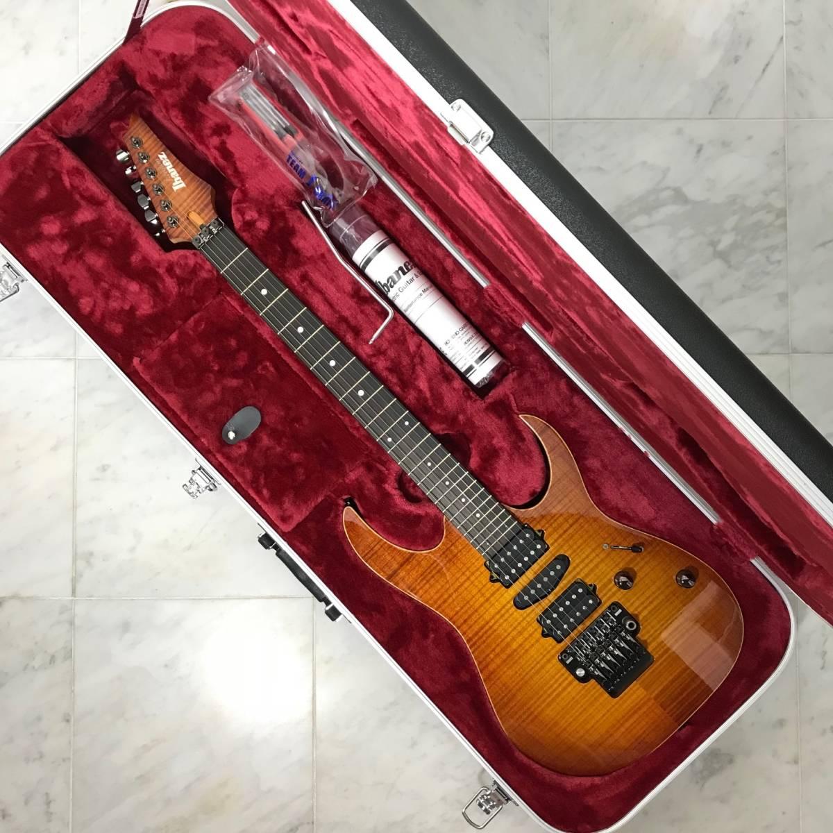 希少 美品 Ibanez J.custom RG7570Z Bright Brown Rutile 付属品 専用ハードケース付 日本製 アイバニーズ エレキギター GOTOHペグ 最高峰_画像3