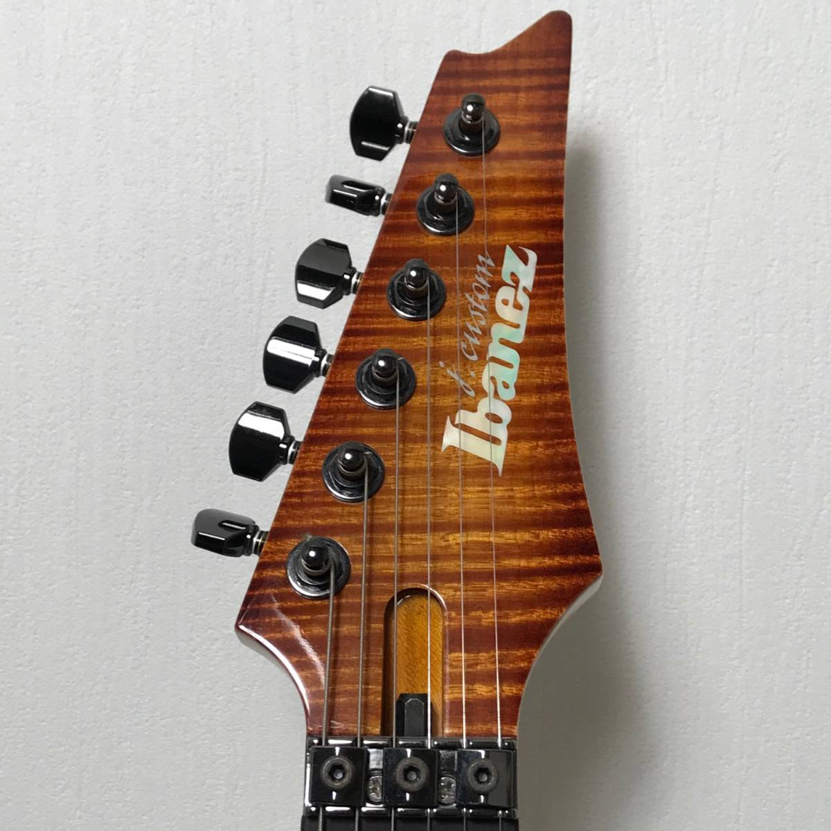 希少 美品 Ibanez J.custom RG7570Z Bright Brown Rutile 付属品 専用ハードケース付 日本製 アイバニーズ エレキギター GOTOHペグ 最高峰_画像5
