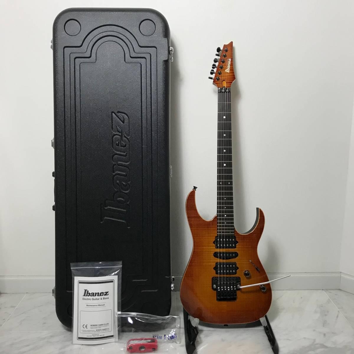 希少 美品 Ibanez J.custom RG7570Z Bright Brown Rutile 付属品 専用ハードケース付 日本製 アイバニーズ エレキギター GOTOHペグ 最高峰