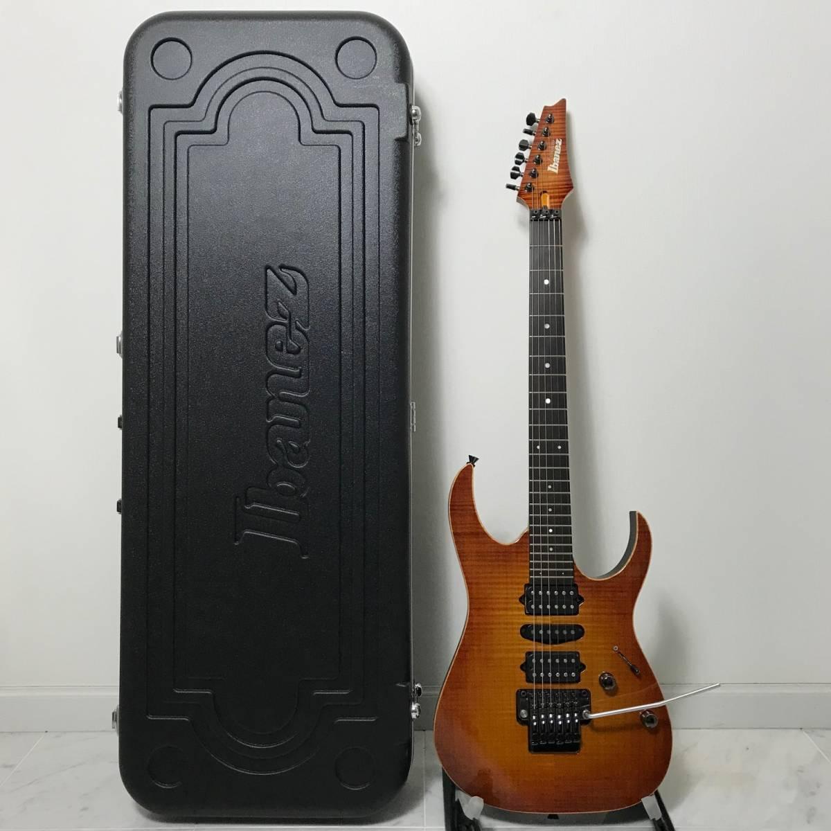 希少 美品 Ibanez J.custom RG7570Z Bright Brown Rutile 付属品 専用ハードケース付 日本製 アイバニーズ エレキギター GOTOHペグ 最高峰_画像2