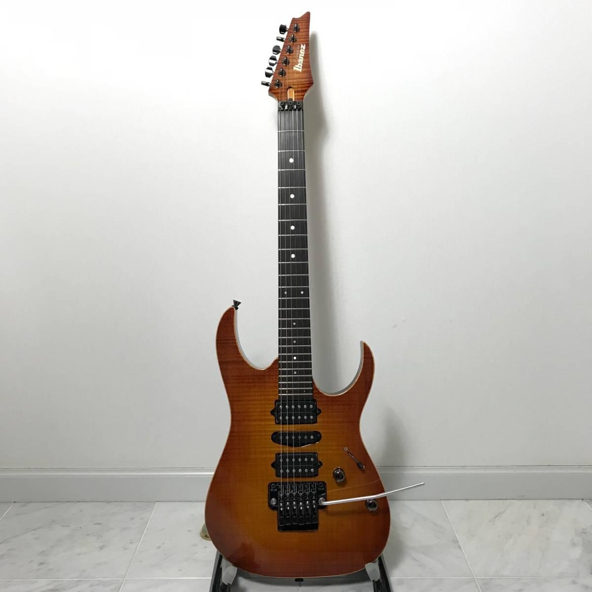 希少 美品 Ibanez J.custom RG7570Z Bright Brown Rutile 付属品 専用ハードケース付 日本製 アイバニーズ エレキギター GOTOHペグ 最高峰_画像4