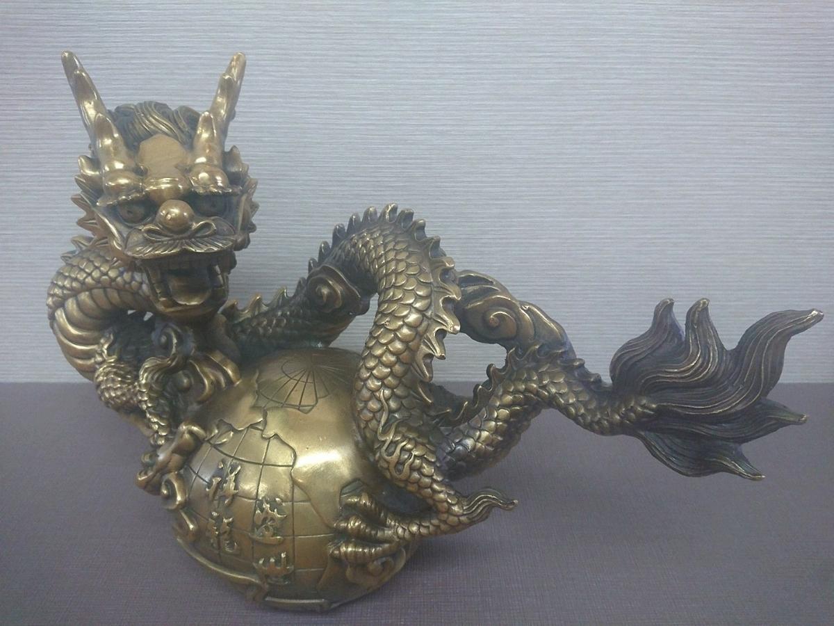 特大!圧倒的なパワー!!龍の置物 銅製(真鍮) 横幅50cm_画像5