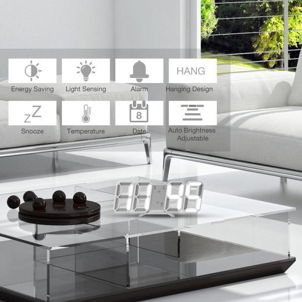 インテリア 壁掛け時計 デジタル ウォールクロック 選べる8カラー LED Digital Numbers Wall Clock_画像6