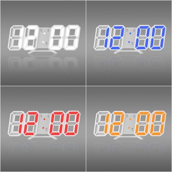 インテリア 壁掛け時計 デジタル ウォールクロック 選べる8カラー LED Digital Numbers Wall Clock_画像2