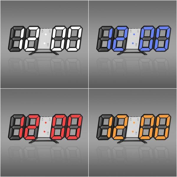 インテリア 壁掛け時計 デジタル ウォールクロック 選べる8カラー LED Digital Numbers Wall Clock_画像3