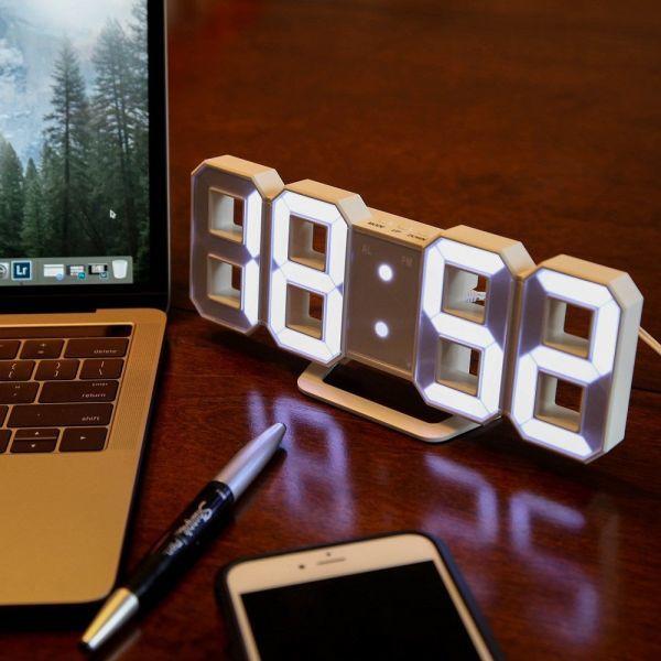 インテリア 壁掛け時計 デジタル ウォールクロック 選べる8カラー LED Digital Numbers Wall Clock_画像7