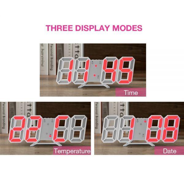 インテリア 壁掛け時計 デジタル ウォールクロック 選べる8カラー LED Digital Numbers Wall Clock_画像5