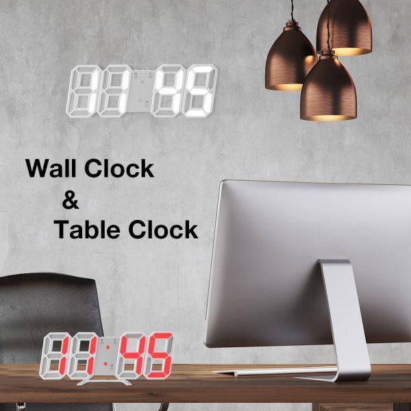 インテリア 壁掛け時計 デジタル ウォールクロック 選べる8カラー LED Digital Numbers Wall Clock_画像4