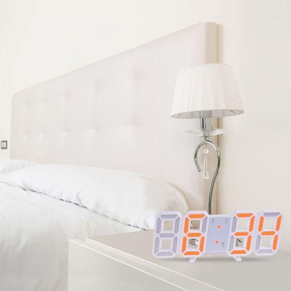 インテリア 壁掛け時計 デジタル ウォールクロック 選べる8カラー LED Digital Numbers Wall Clock_画像9