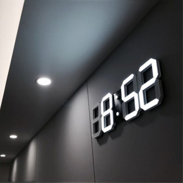 インテリア 壁掛け時計 デジタル ウォールクロック 選べる8カラー LED Digital Numbers Wall Clock_画像1