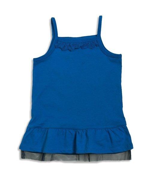★新品★ BREEZE ブリーズ 裾フレアキャミソール チュール付き ブルー色 120サイズ 定価1620円