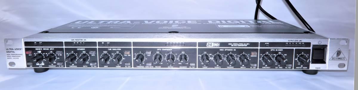 BEHRINGER ベリンガー VX2496 ULTRA‐VOICE DIGITAL 高性能マイクプリアンプ/ボイスプロセッサー_画像3