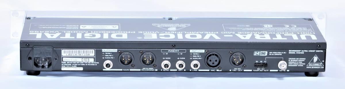 BEHRINGER ベリンガー VX2496 ULTRA‐VOICE DIGITAL 高性能マイクプリアンプ/ボイスプロセッサー