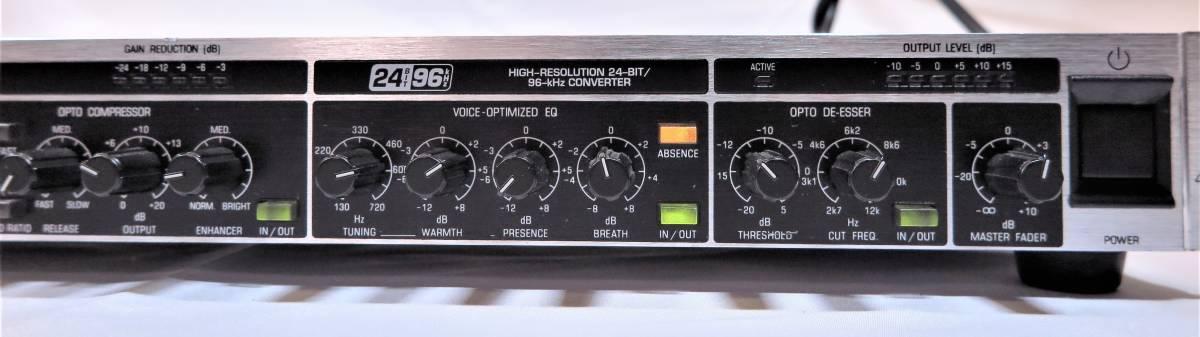 BEHRINGER ベリンガー VX2496 ULTRA‐VOICE DIGITAL 高性能マイクプリアンプ/ボイスプロセッサー_画像7