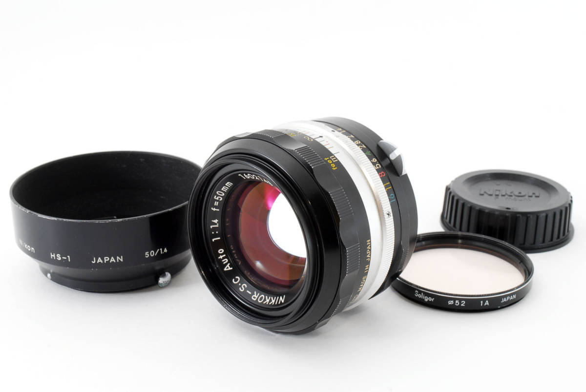 ☆美品 明るい単焦点☆ Nikon NIKKOR-S.C Auto 50mm F1.4 ニコン レンズ LENS NIKKOR S.C_画像3