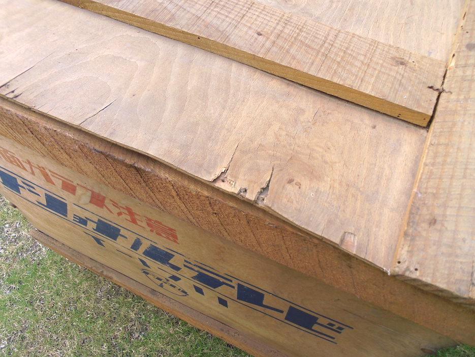 ■即決■ 蔵出し品 NATIONAL ナショナル 真空管テレビ T-1711 木箱 収納 空き箱 アンティーク 昭和レトロ 直接受け渡し歓迎_画像7