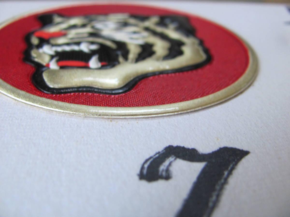 ◆1975年「阪神タイガース・主力メンバー寄書き自筆サイン色紙」額装美品_画像8