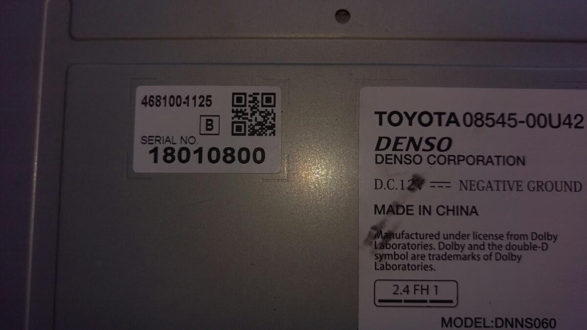 トヨタ純正ワンセグ内蔵SDナビ NSDD-W61 新品フィルムアンテナDVD再生 Bluetooth _画像8