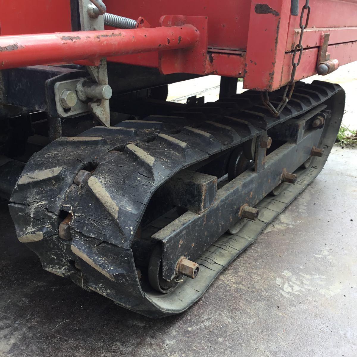 サンワ車輌 ミニクロ M1000 運搬車 最大積載量400キロ クボタガソリンエンジン 動作確認済み クローラ難有り 格安_画像7