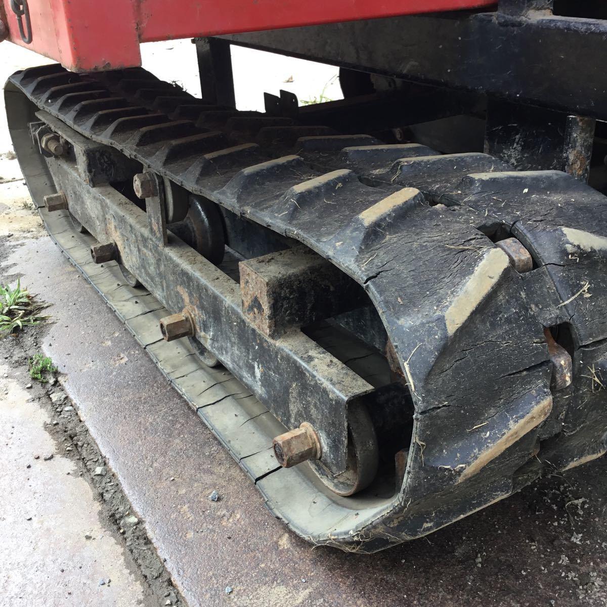 サンワ車輌 ミニクロ M1000 運搬車 最大積載量400キロ クボタガソリンエンジン 動作確認済み クローラ難有り 格安_画像6