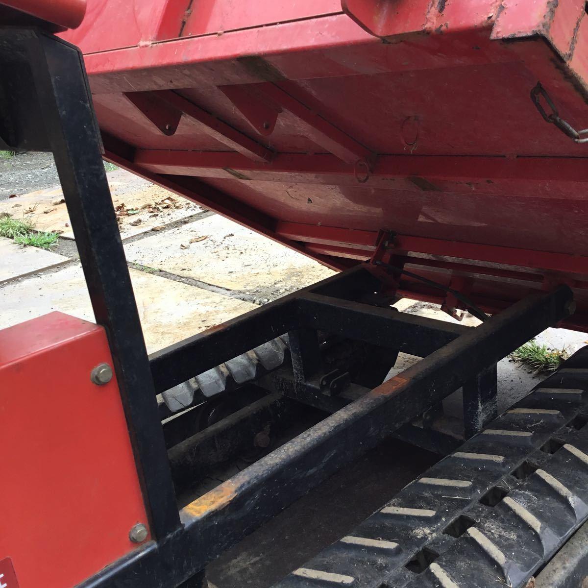 サンワ車輌 ミニクロ M1000 運搬車 最大積載量400キロ クボタガソリンエンジン 動作確認済み クローラ難有り 格安_画像8