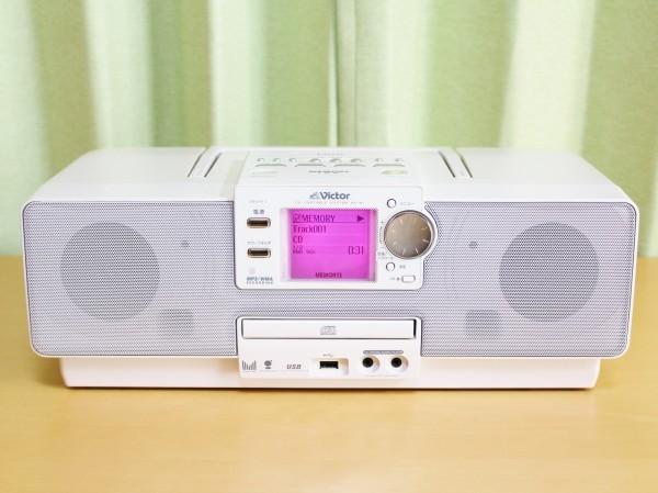 Victor ビクター CD/MEMORYポータブルシステム Clavia RD-M1-W【リモコン無】■東信UTSJ使用■メンテ済■動作保証あり■