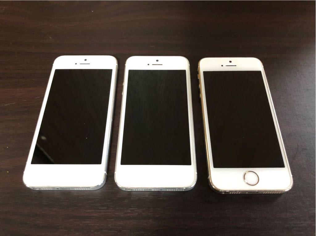 iPhone5s iPhone 5 Apple 利用制限 ◯ au SoftBank docomo 初期化済み 美品 動作確認済み 1円スタート