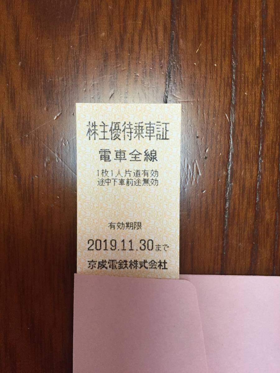 京成電鉄 株主優待乗車証 1枚